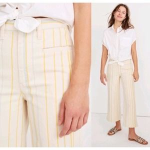 NWT 35T Madewell Emmett Wide Leg Crop Pant Stripe